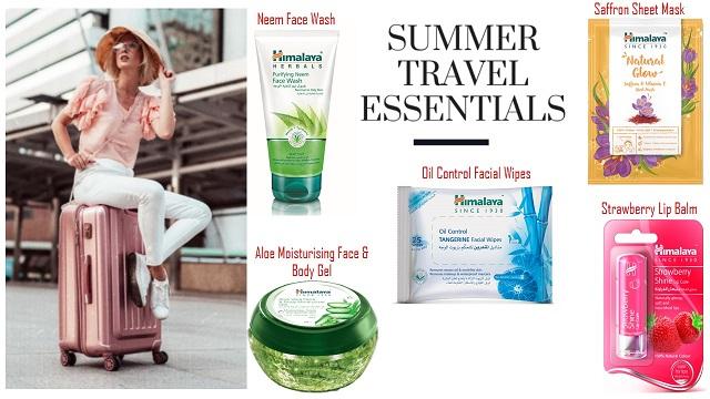 """""""هيمالايا"""" منتجات أساسية أثناء السفر للعناية بالبشرة والجسم"""